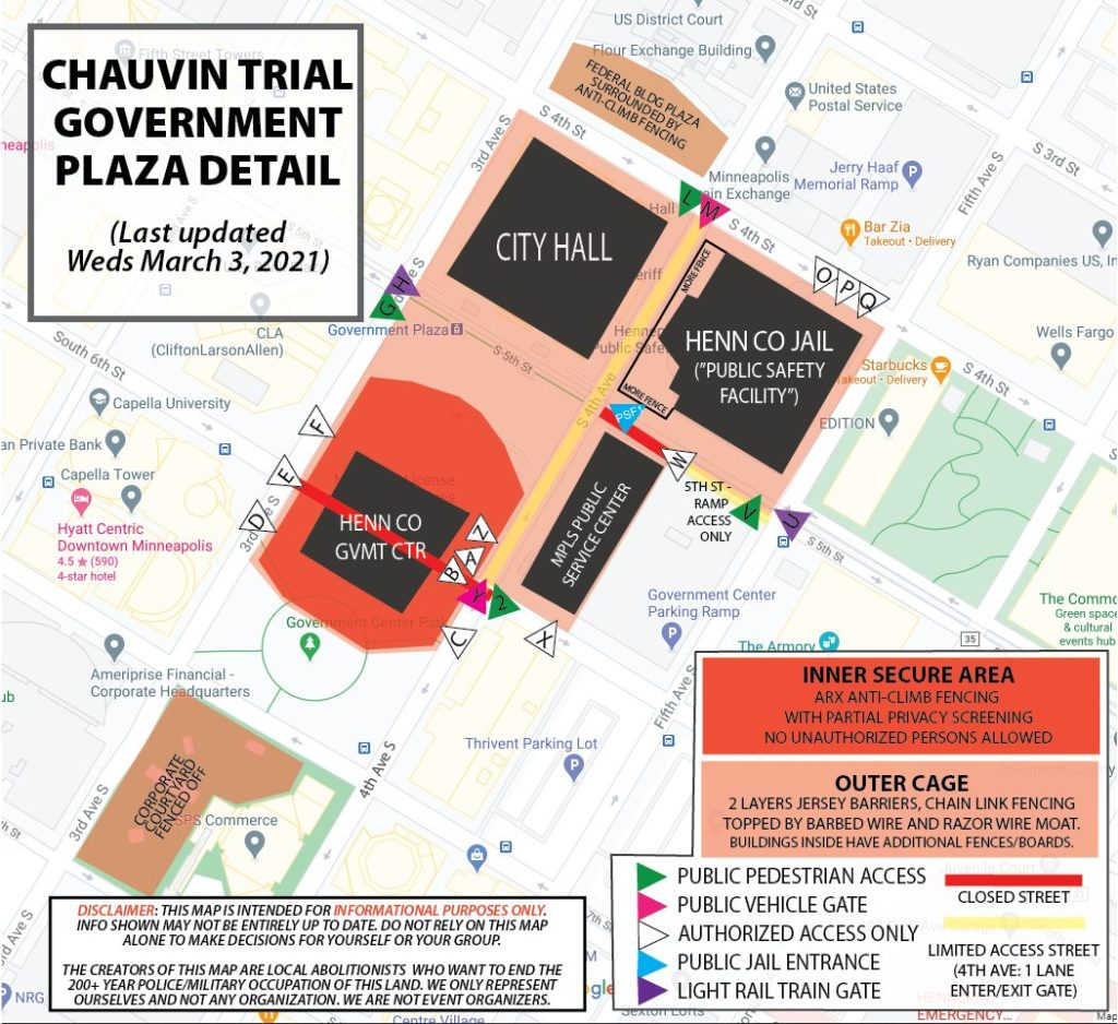 DontGetCagedMPLS Chauvin Trial Map