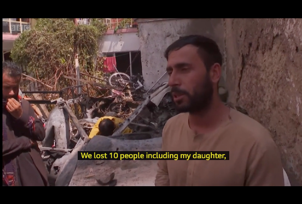Emal Ahmadi told the BBC his daughter was among the 10 people killed by the U.S. drone strike.